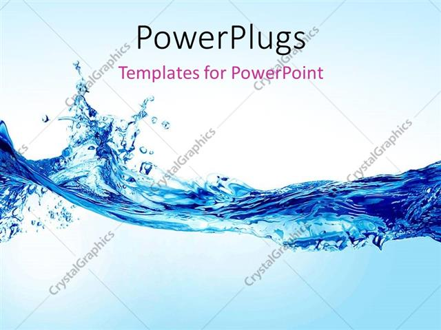 Powerpoint Template: Beautiful Splash Of Water Forming Shape (30863)
