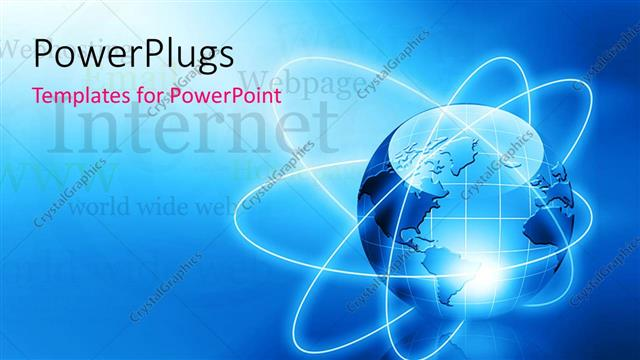 powerpoint template: the depiction of earth being a global village, Modern powerpoint