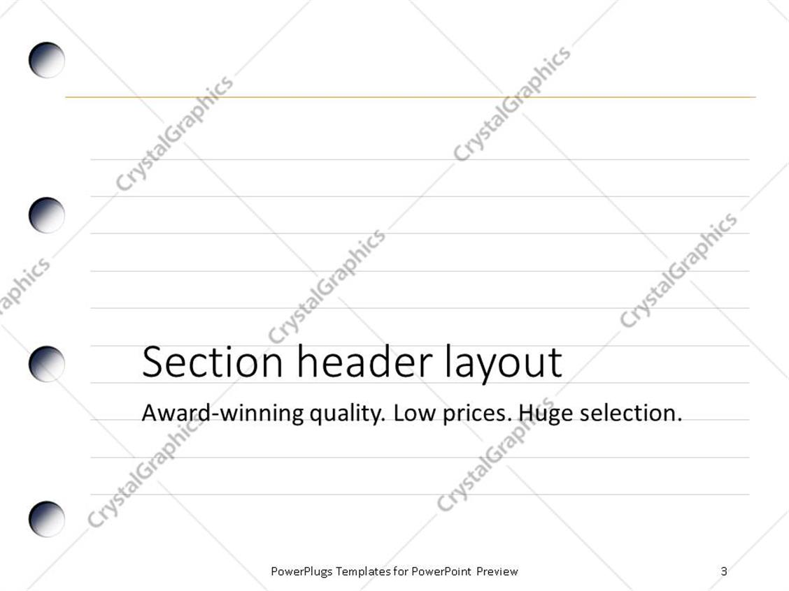 Lined paper note powerpoint background construction schedules lined paper powerpoint templates crystalgraphics profit and loss binder paper graphics notebook writing xl 22284 2 toneelgroepblik Images