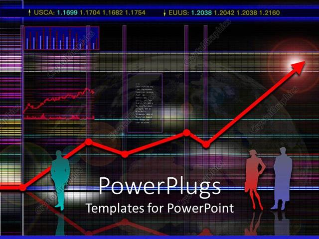 PowerPoint Template Displaying a Black Background with a Lot of Texts in Front