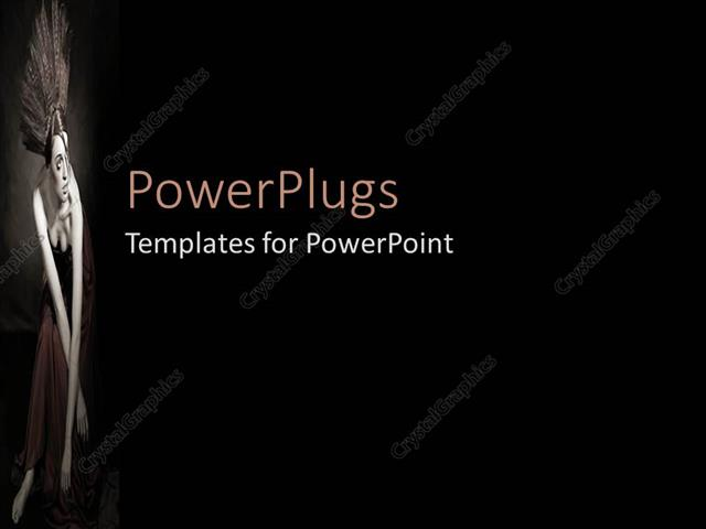 powerpoint template: black and white representation of fashion, Modern powerpoint