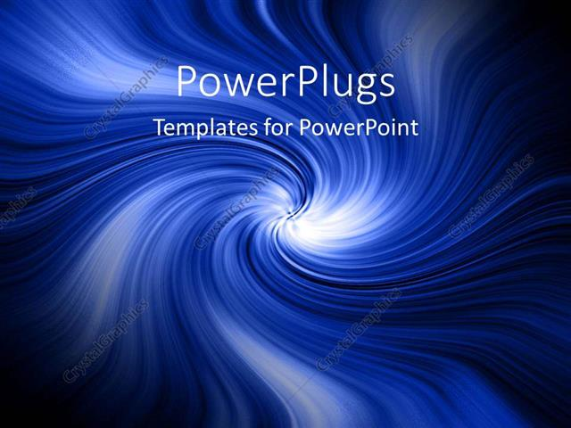 powerpoint template: blue abstract swirls water tornado clouds, Modern powerpoint