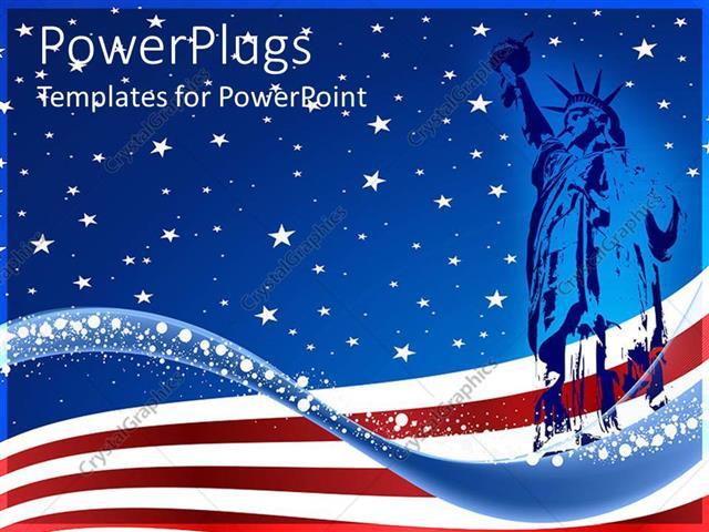 100 american flag powerpoint template flag day powerpoint powerpoint template blue colored statue of liberty over the usa toneelgroepblik Images