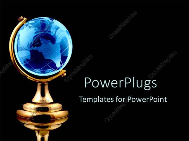 blue and gold powerpoint template