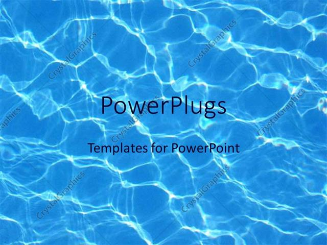 Powerpoint Template Blue Water Reflections In Pool Summer Swimming 29876
