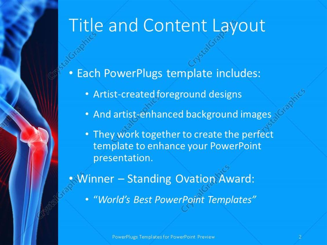 powerpoint template: bones strength (22971), Modern powerpoint