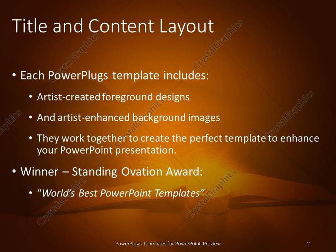 Powerpoint template book lit up by candle reading white powerpoint products templates secure standing ovation award toneelgroepblik Choice Image
