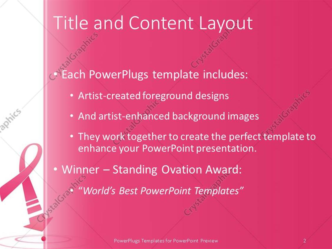 powerpoint template: breast cancer awareness pink ribbon with, Powerpoint templates