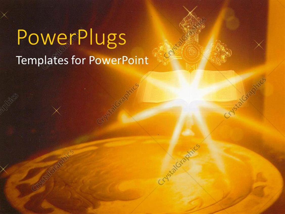 Powerpoint Template Bright Shinning Candle Light With A