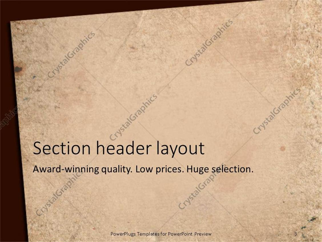 powerpoint templates free old paper gallery - powerpoint template, Powerpoint templates