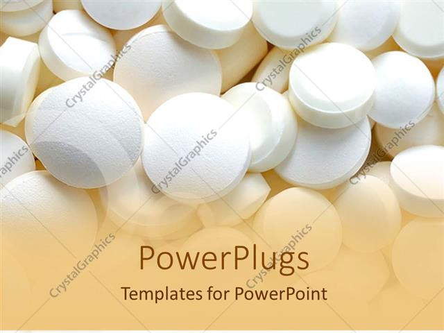 powerpoint template: bunch of white pills, medication, Modern powerpoint