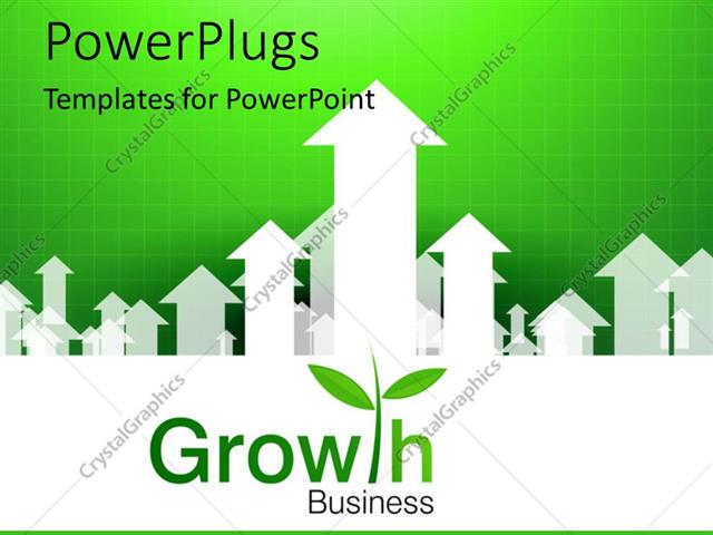 PowerPoint Template: Business growth depiction with upward arrows ...