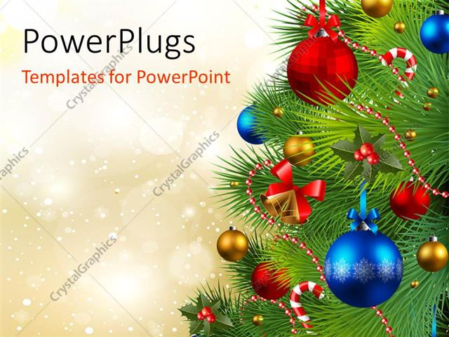 Powerpoint Template: The Celebration Of Christmas By Arranging The