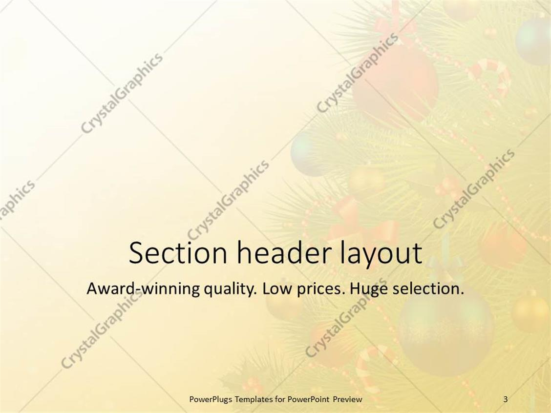 powerpoint template the celebration of christmas by arranging the