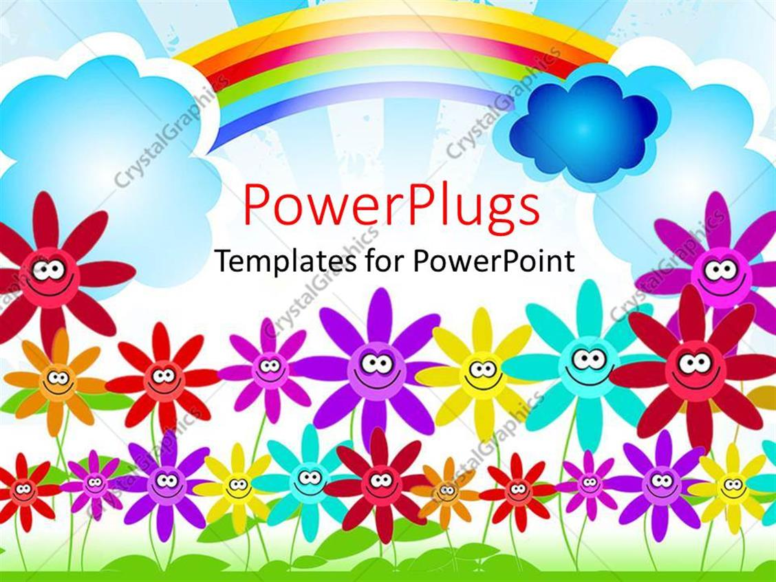 rainbow powerpoint template free image collections - templates, Powerpoint templates