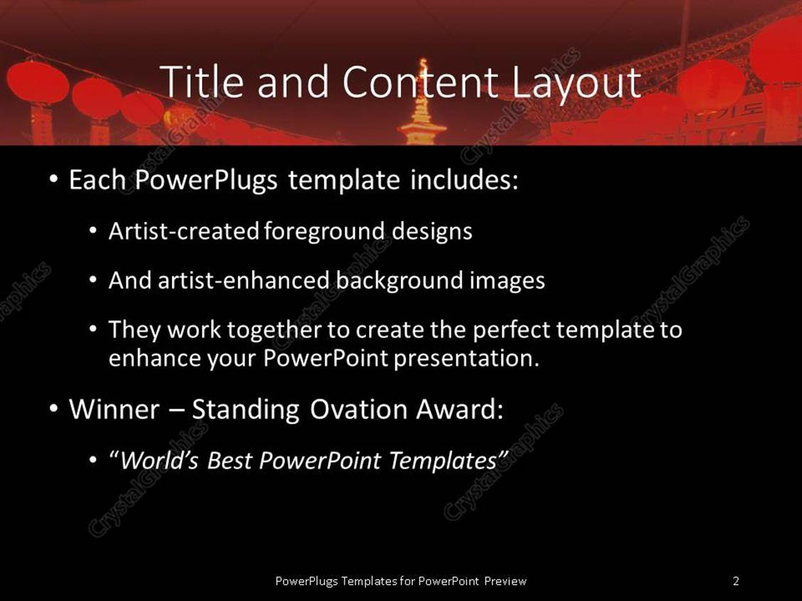 powerpoint template: chinese oriental theme with oriental, Modern powerpoint