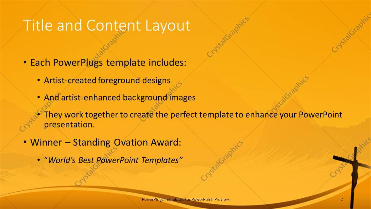 powerpoint template: a sunset view of a cross with jesus christ, Powerpoint templates