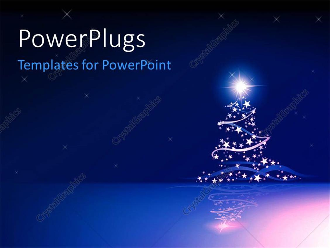powerpoint template a christmas background with stars and