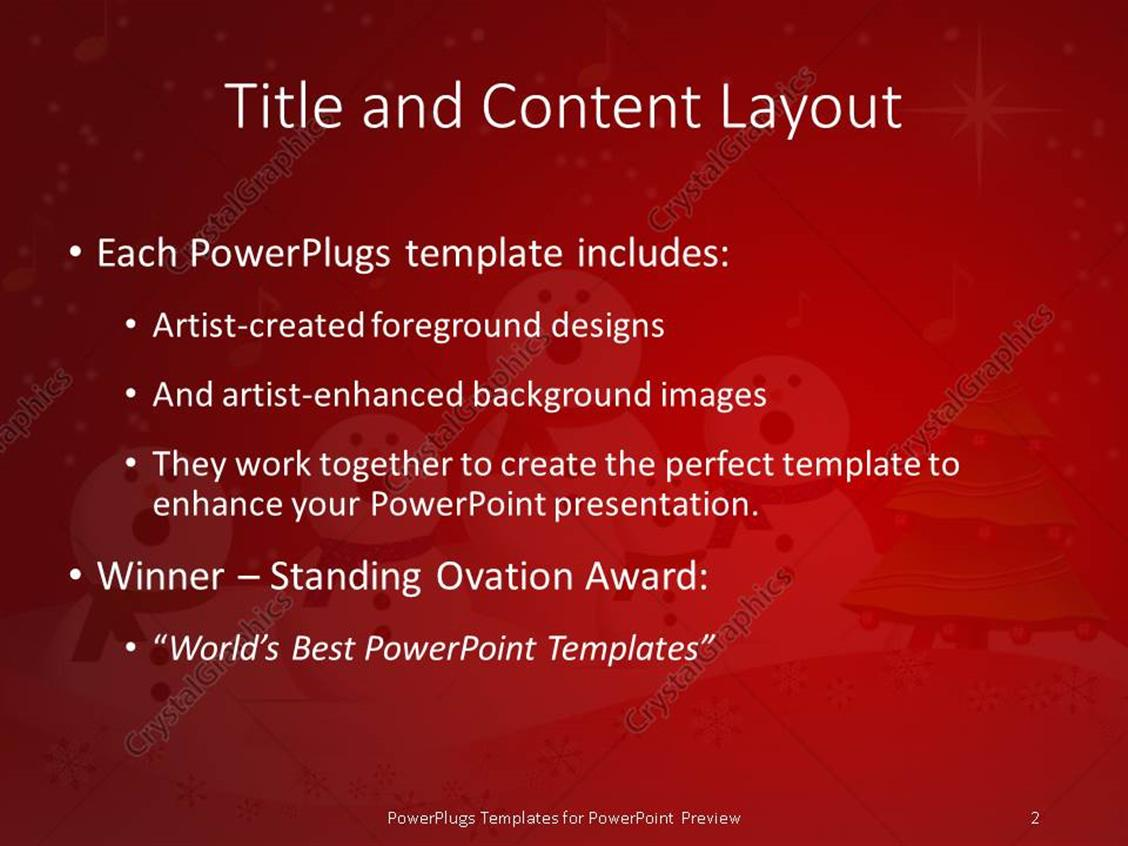 powerpoint template christmas depiction with christmas tree