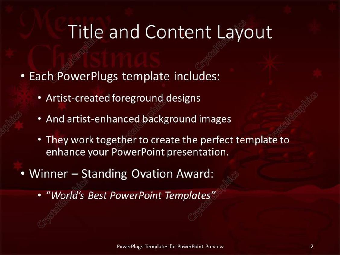 powerpoint template christmas depiction with decoration on