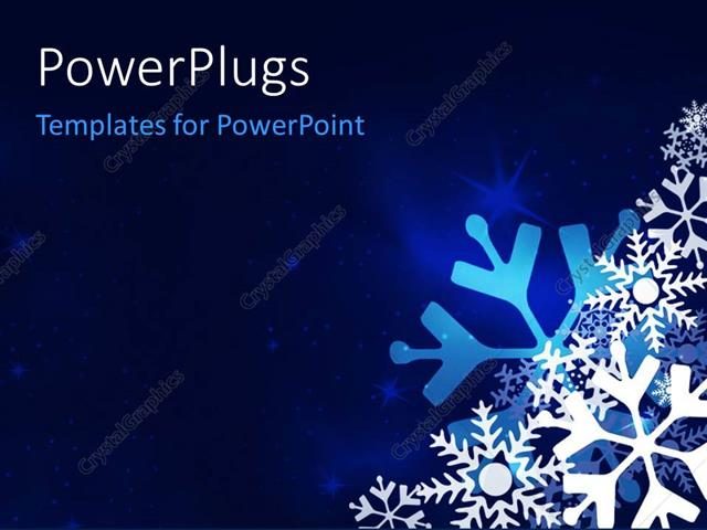 powerpoint template christmas festive blue background with, Powerpoint