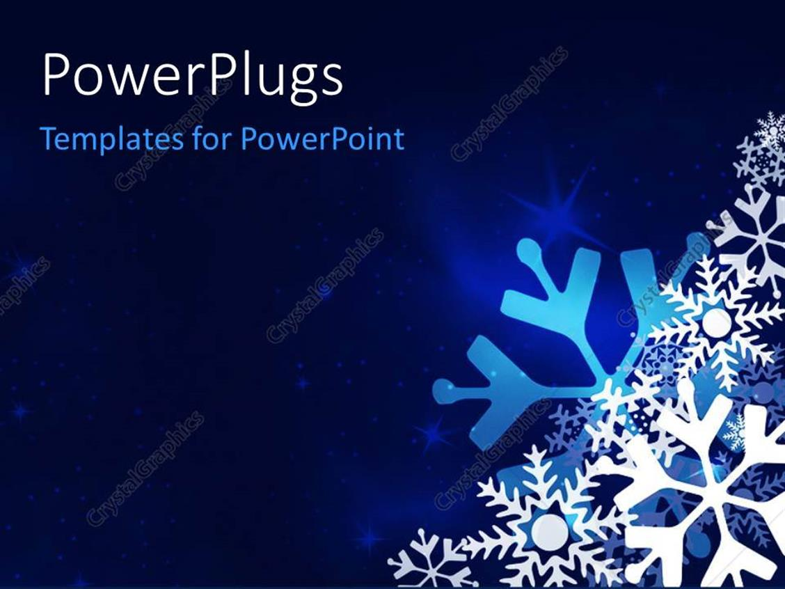 powerpoint template christmas festive blue background