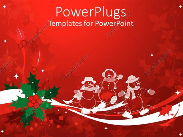 powerpoint template: christmas theme with white transparent, Powerpoint templates