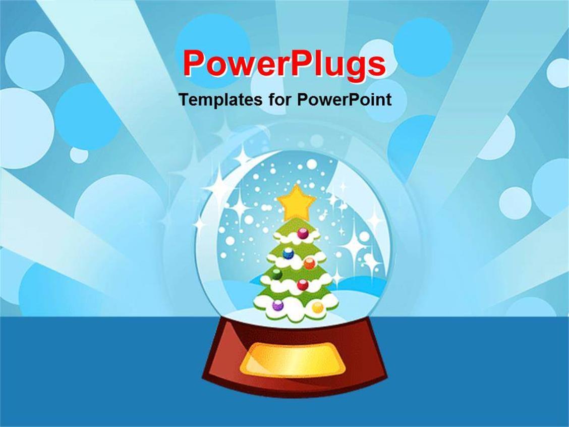 Top 48 animated powerpoint templates backgrounds slides and ppt powerplugs powerpoint template with christmas tree inside of snow globe shining light blue background toneelgroepblik Choice Image