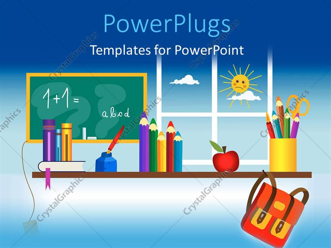Powerpoint template a classroom setting with lots of for Setting up a powerpoint template