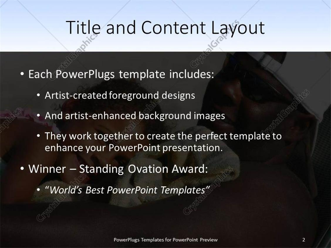 Powerpoint template close up of african american father relaxing powerpoint products templates secure toneelgroepblik Gallery