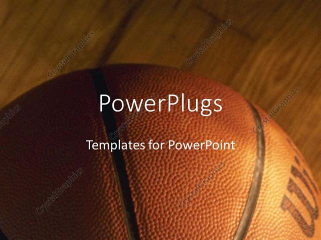 Powerpoint Template: Close-Up Of Basket Ball On Wooden Basketball
