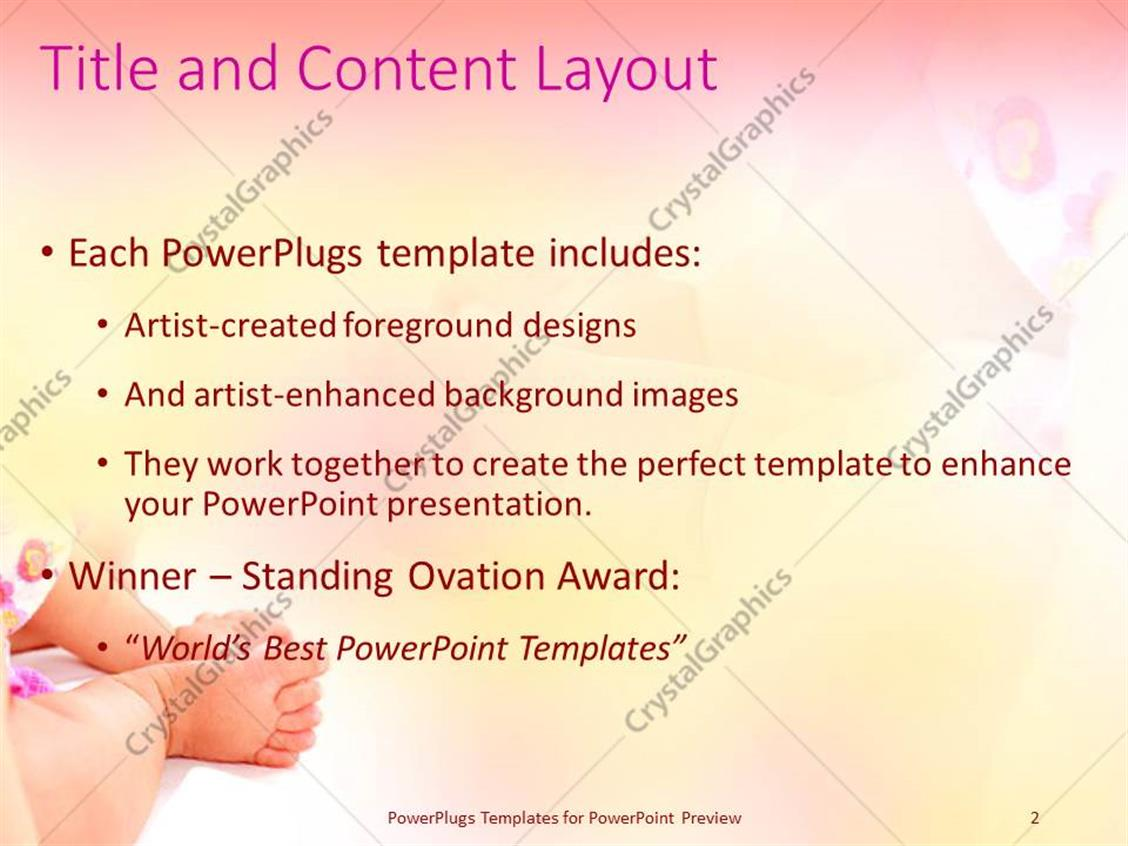 powerpoint template: close up baby foot and hand (2558), Powerpoint templates