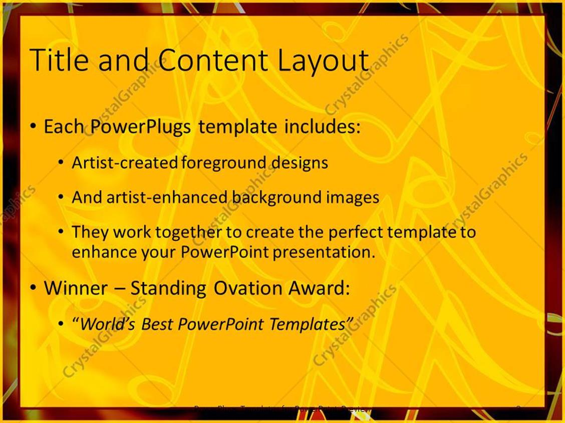 Powerpoint template close up of golden music notes in red powerpoint products templates secure toneelgroepblik Images