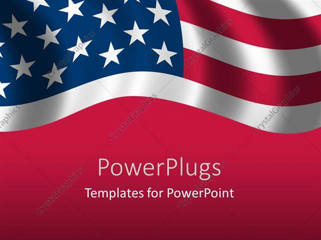 American flag powerpoint template faceboul powerpoint template a close up view of the flag of usa 1646 toneelgroepblik Gallery