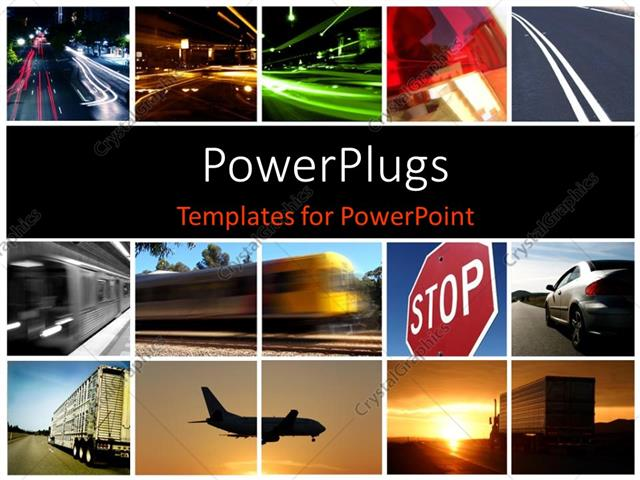 Powerpoint template a collage depicting different modes of powerpoint template displaying a collage depicting different modes of transport toneelgroepblik Gallery