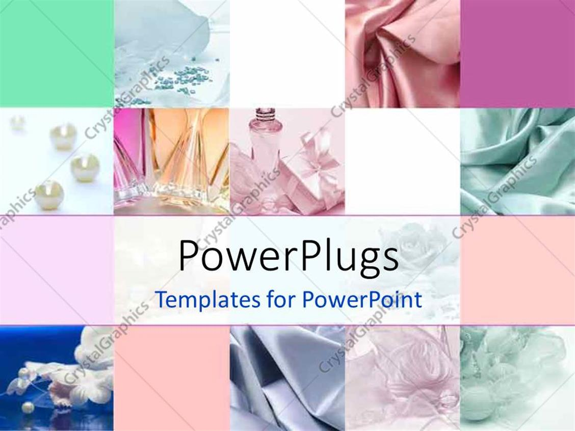 Powerpoint Template Collage Depicting Fashion And Style