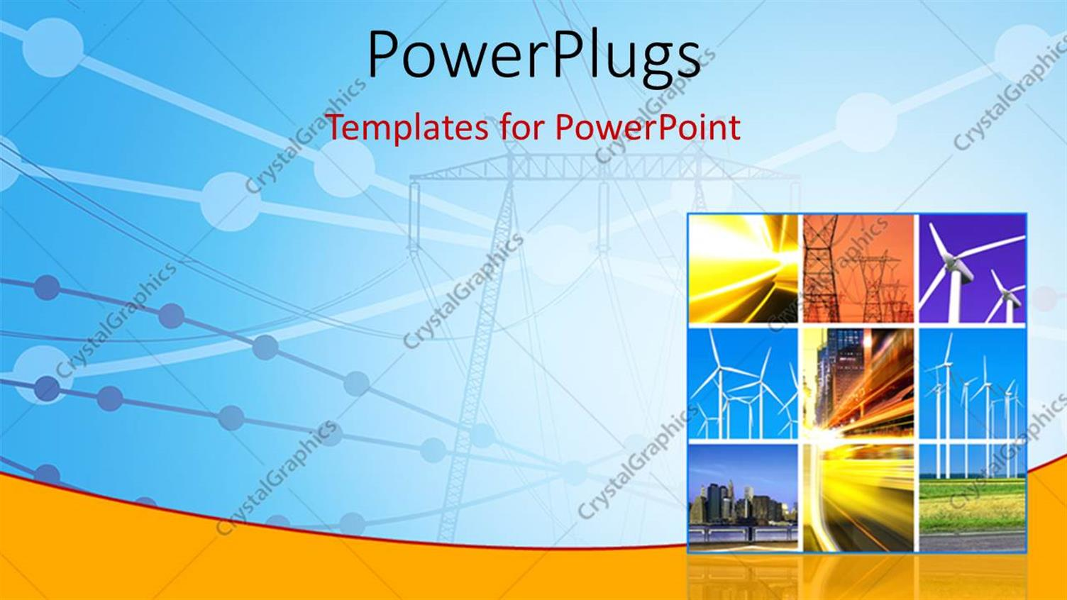 powerpoint template electricity generation and transmission with collage of wind turbines 11032. Black Bedroom Furniture Sets. Home Design Ideas