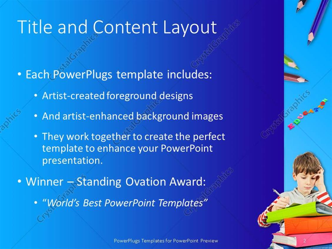 powerpoint template colored letters form word education with kids