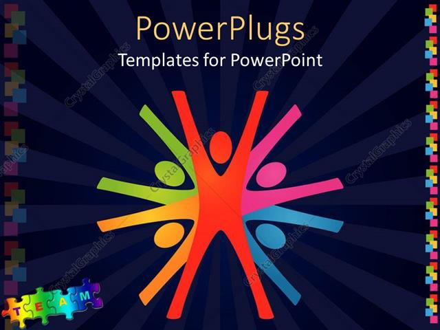 Powerpoint template colorful abstract depiction of teamwork in powerpoint template displaying colorful abstract depiction of teamwork in dark blue background toneelgroepblik Choice Image