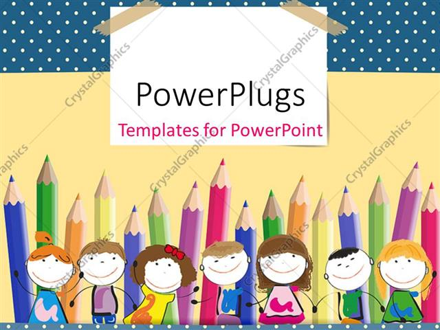 Crayon template for powerpoint bellacoola powerpoint template colorful crayons in background with happy powerpoints templates toneelgroepblik Gallery