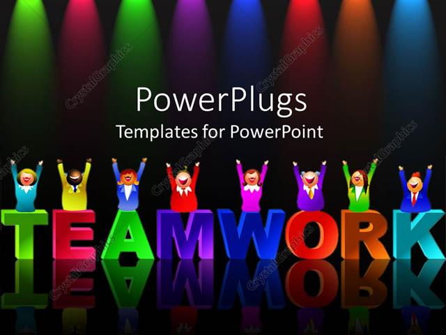 Powerpoint template colorful letters form word teamwork with powerpoint template displaying colorful letters form word teamwork with reflection on black background toneelgroepblik Choice Image