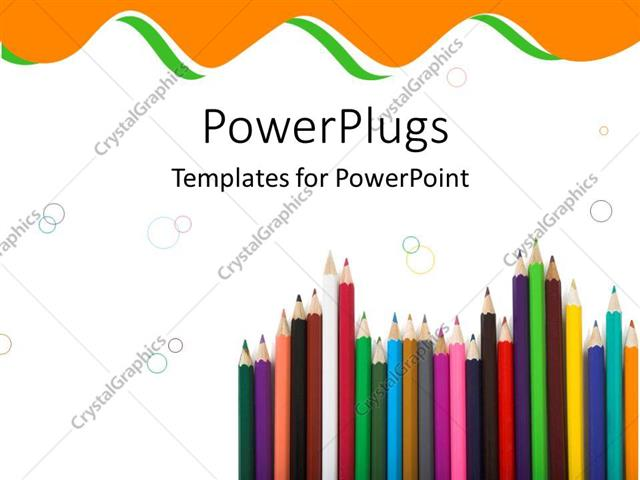 Crayon template for powerpoint bellacoola powerpoint template colorful pencils and crayons pointing upwards powerpoints templates toneelgroepblik Gallery
