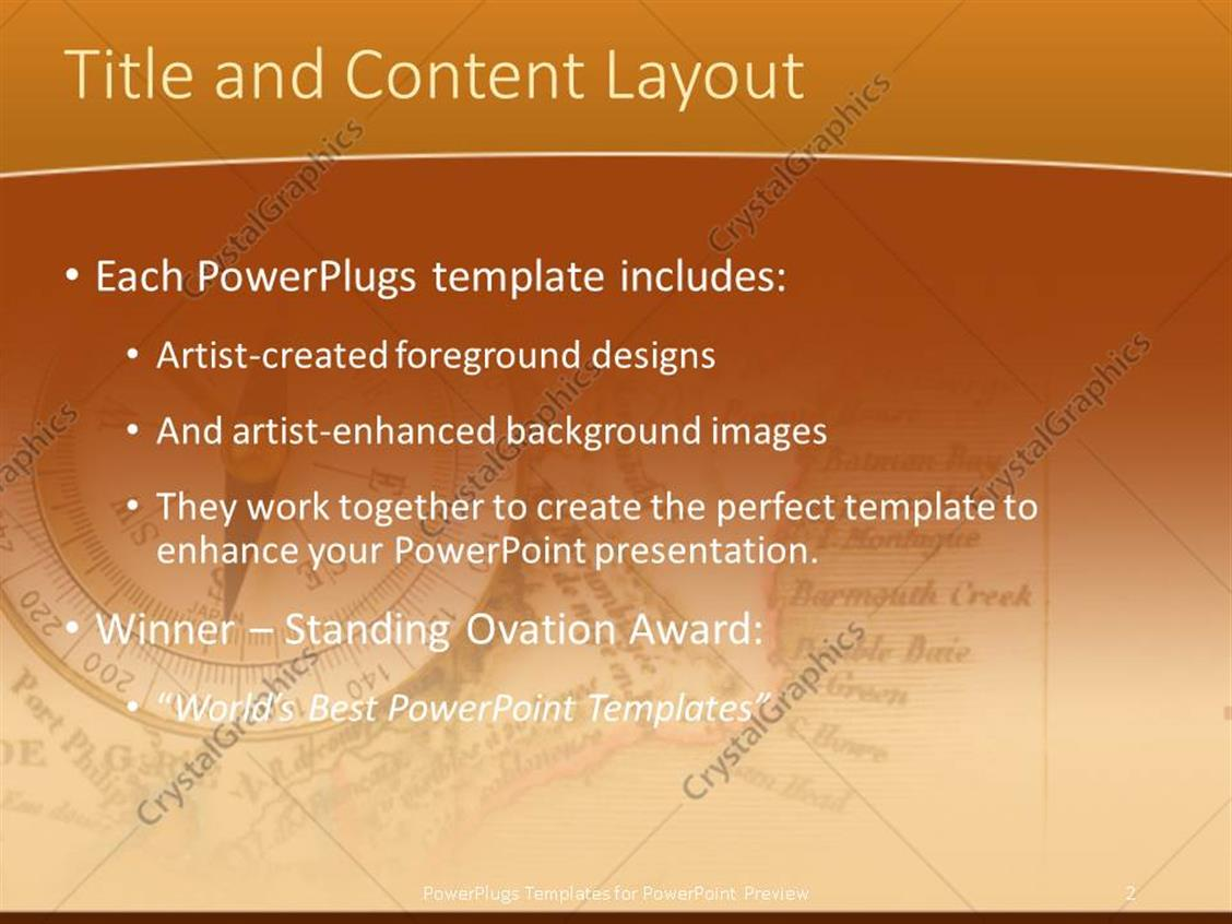 Powerpoint template compass to show the right path and map 19520 powerpoint products templates secure standing ovation award toneelgroepblik Image collections