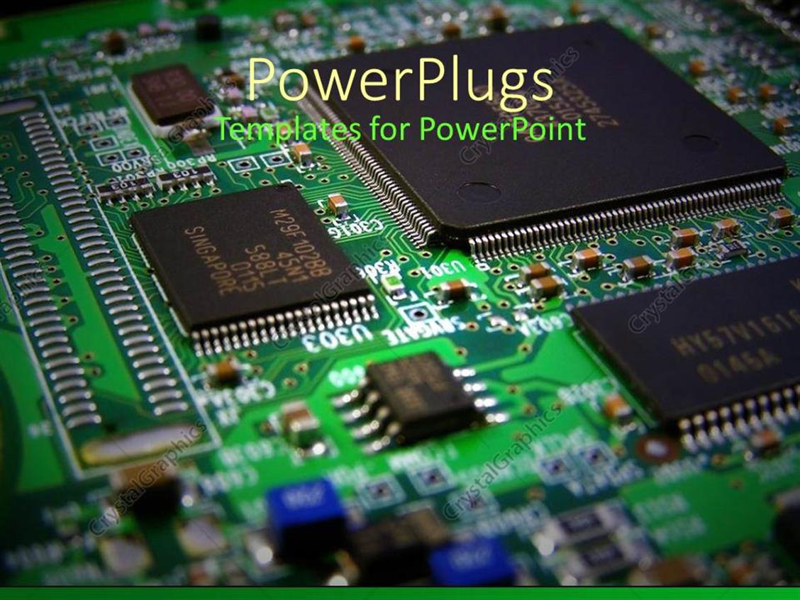 powerpoint template computer components circuit board
