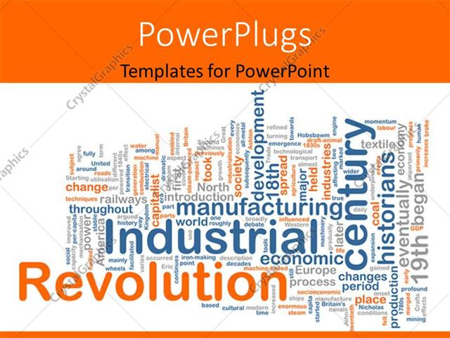 Powerpoint template conceptual background with terms relating to powerpoint template displaying conceptual background with terms relating to industrial revolution toneelgroepblik Images