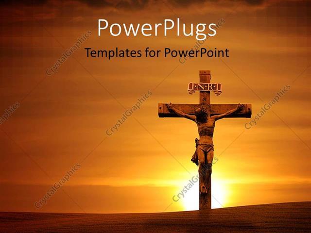 Powerpoint template the crucifixion of jesus with a sunset in the powerpoint template displaying the crucifixion of jesus with a sunset in the background toneelgroepblik Image collections