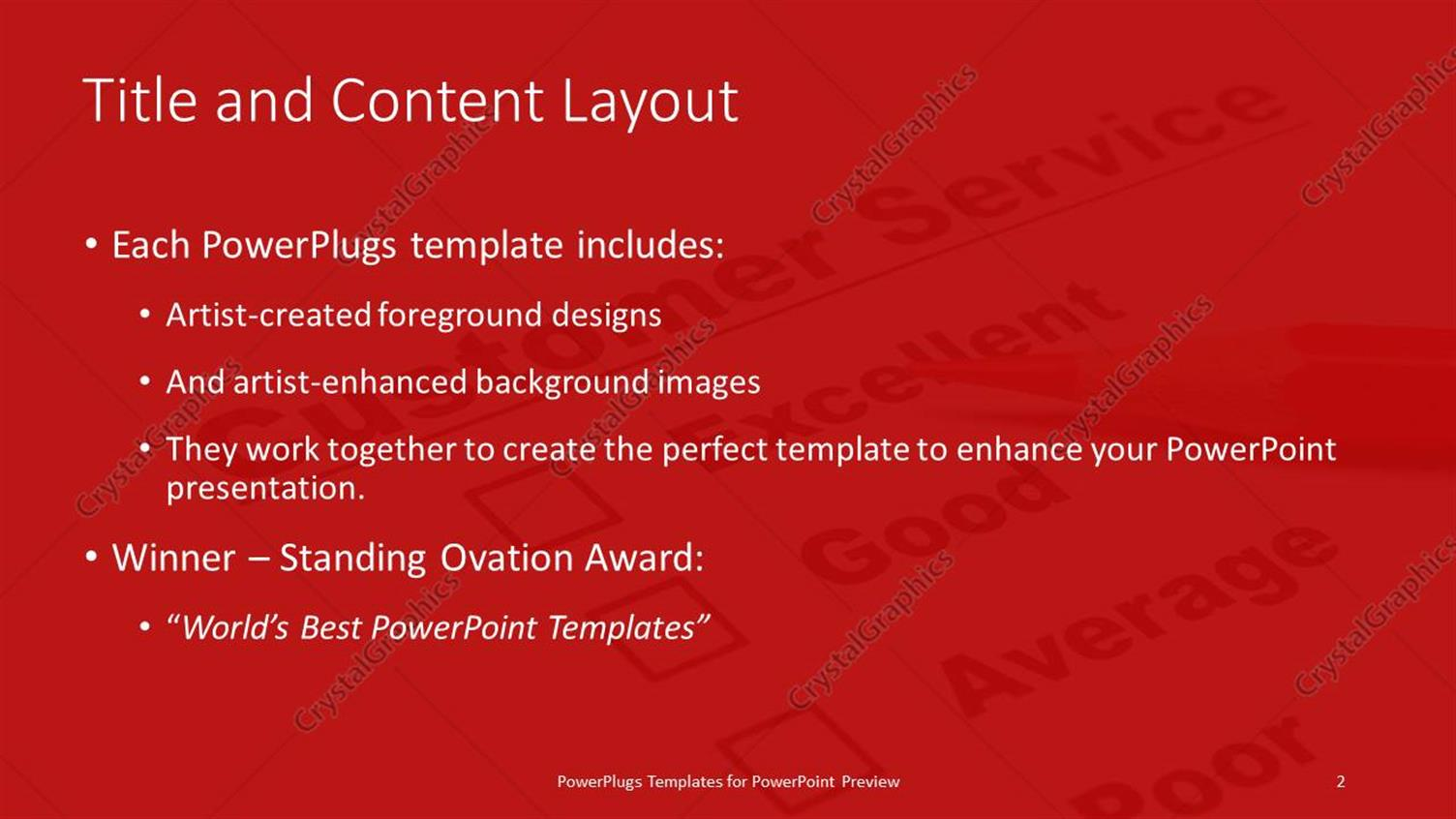 Powerpoint template a color pencil and a customer service powerpoint products templates secure toneelgroepblik Choice Image