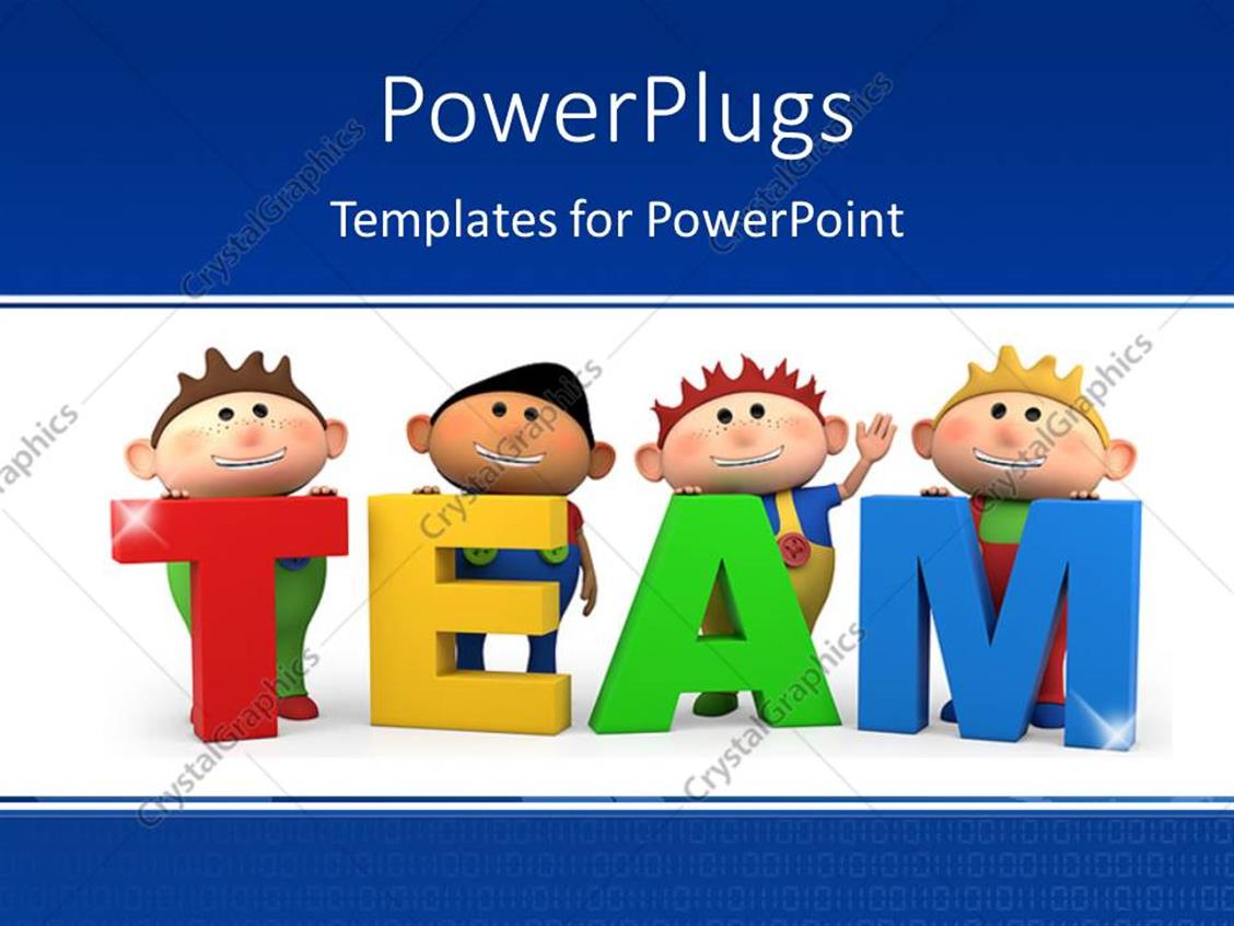 Powerpoint template cute little 3d cartoon boys with team letters powerpoint template displaying cute little 3d cartoon boys with team letters toneelgroepblik Images