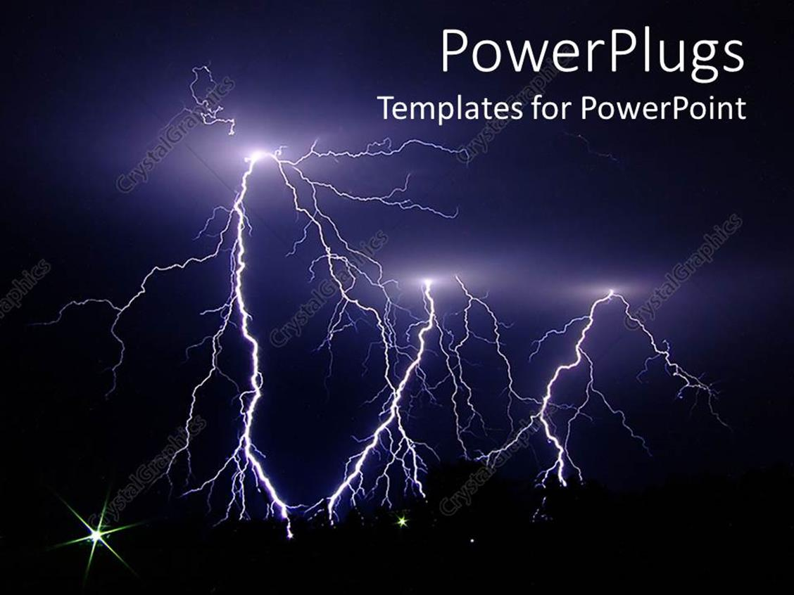 Powerpoint template dark stormy night lightning strikes for Lightning link template