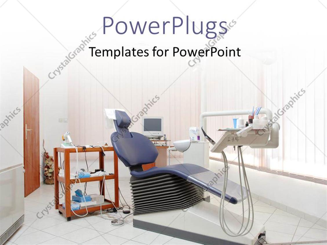 PowerPoint Template: a dentist office with a white ...